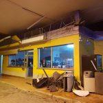 Distributore di benzina devastato da una tromba d'aria: paura a Budoni